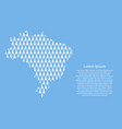 brazil map abstract schematic from white happy vector image vector image