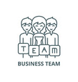 business team line icon business team vector image