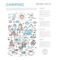 Camping Vertical Infographic vector image vector image