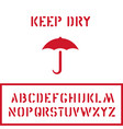 cargo cardboard box keep dry stamp with umbrella vector image vector image