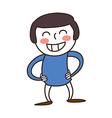 cartoon boy smiling vector image vector image