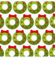 christmas crown pattern background vector image