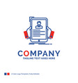 company name logo design for resume employee vector image vector image