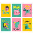 cute cards vector image vector image