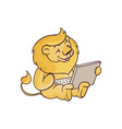 cute child lion sitting vector image