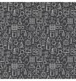 Dark chemistry seamless patten vector image