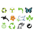 ecology logo vector image vector image