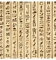 Egyptian hieroglyphs vector image vector image