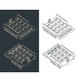 expansion module for arduino uno drawings vector image vector image