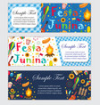 festa junina banner set with space for text vector image vector image