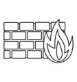 firewall icon outline style vector image vector image