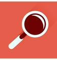 Flat icon with long shadow magnifying glass vector image vector image