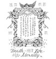 gothic frame with angel and demons vector image