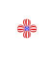 happy labor day usa logo design vector image vector image