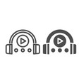 headphones and player line and glyph icon vector image vector image