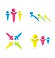 human icons vector image vector image