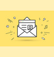 icon of new open mail envelope vector image vector image