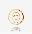 Light bulb minimal design logo vector image