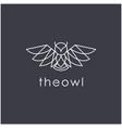 line art owl logo design modern linear style vector image vector image