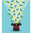 magical appearance of money and wealth vector image vector image