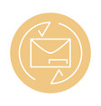 mail envelope letter service cargo shipping vector image