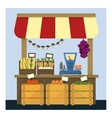 Market Stand With Fresh Vegetables vector image vector image