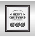 merry christmas card witrh dark typographic and vector image