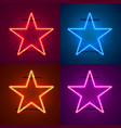 neon frame sign in the shape of a star vector image vector image