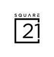 number 21 sign vector image