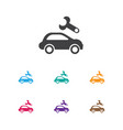 of vehicle symbol on vehicle vector image vector image