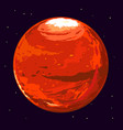 planet mars vector image vector image