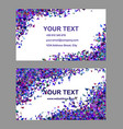 Purple chaotic business card template set