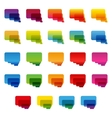 Rainbow colorful transparent rounded rectangle vector image vector image