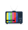 retro tv with antenna no signal vector image vector image