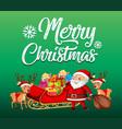 santa riding sleigh on snow vector image