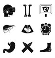 scrag icons set simple style vector image vector image