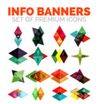 set of triangle paper geometrical info vector image vector image