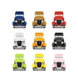 Set Retro Car Icon vector image