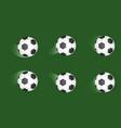 set soccer balls football shot goal sport vector image vector image