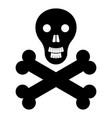 skull and bones the black color icon vector image vector image