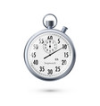stopwatch in realistic style classic metal vector image vector image