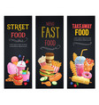 street food banners vector image vector image