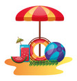 summer time holiday vector image vector image