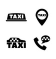 taxi car call service simple related icons vector image