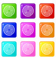 tree ring icons 9 set vector image vector image