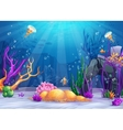 Underwater world cartoon vector image