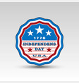 usa independence day circle emblem vector image