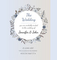 wedding invitation or greeting card vector image vector image