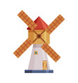 windmill old traditional agricultural building vector image vector image