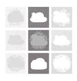 Cloud shape backgrounds set for your design vector image